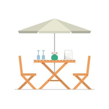 Meja Payung Hutankayu Furniture